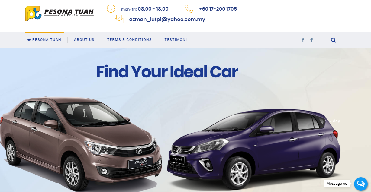 PesonaTuah Car Rental